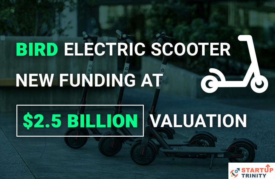 Bird Electric scooter Raise new Funding at $2.5 Billion Valuation